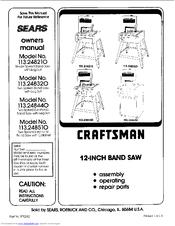 Craftsman 113.248320 Manuals