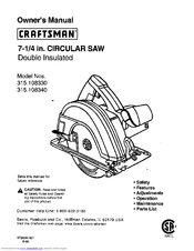 Craftsman 315.108340 Manuals