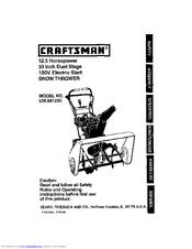 Craftsman 536.88123 Manuals