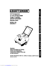 Craftsman 536.885211 Manuals