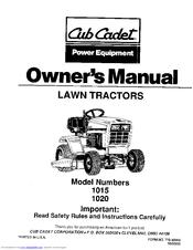 Cub Cadet 1020 Manuals