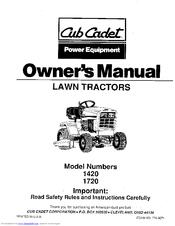 Cub Cadet 1720 Manuals