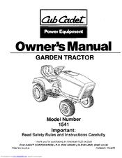 Cub Cadet 1541 Manuals