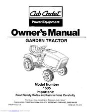 Cub Cadet 1535 Manuals