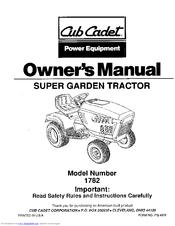 Cub Cadet 1782 Manuals