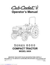 Cub Cadet 8454 Manuals