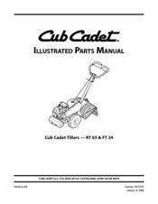 Cub Cadet RT 65 Rear-Tine Garden Tiller Manuals