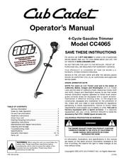 Cub Cadet CC4065 Manuals