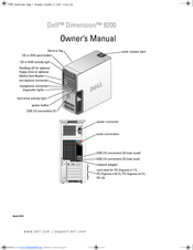 Dell Dimension 9200 Manuals