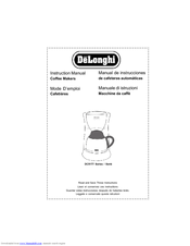 Delonghi Coffee Makers Manuals