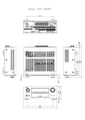 Denon AVR-3808CI Manuals