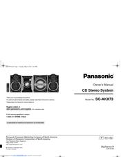 Panasonic SC-AKX73 Manuals