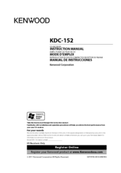 Kenwood KDC-152 Manuals