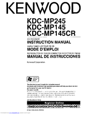 Kenwood KDC-MP145 Manuals