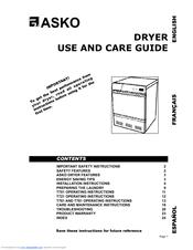 Asko T701 Manuals