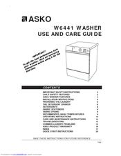Asko W6441 Manuals