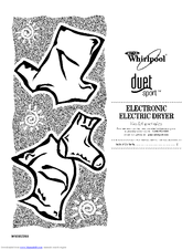 Whirlpool WED8410SW Manuals
