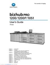 Konica Minolta bizhub PRO 1051 Series Manuals