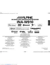 Alpine INA-W910 Manuals