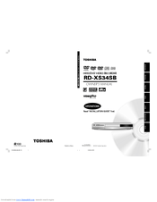 Toshiba RD-XS34 Manuals