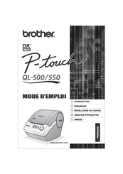 Brother P-Touch QL-500 Manuals