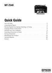 Epson WorkForce WF-2540 Manuals