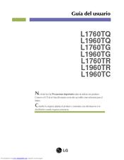 Lg L1960TR Manuals