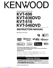 Kenwood KVT-636DVD Manuals