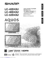 Sharp Aquos LC-42D~43U Manuals