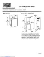 Maytag MVWB725BW Manuals