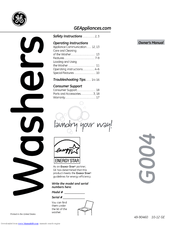 Ge GTWS8655DMC Manuals