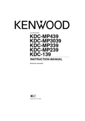 Kenwood KDC-MP239 Manuals