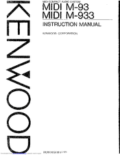 Kenwood T-93L Manuals