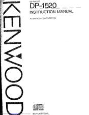 Kenwood DP-1520 Manuals
