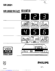 Philips VR 2022 Picture Search Manuals