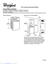 Whirlpool WTW5600X Manuals