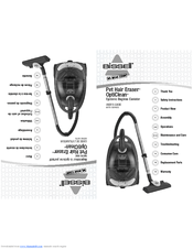 Bissell Pet Hair Eraser® Cyclonic Canister Vacuum 66T6 Manuals