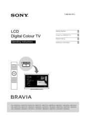Sony Bravia KDL-46EX723 Manuals
