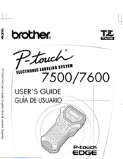 Brother P-TOUCH 7600 Manuals