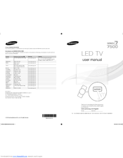 Samsung UN55ES7500 E- Manuals
