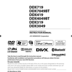 Kenwood Ddx419 Wiring Diagram Labelled Of A Cow Manuals Instruction Manual