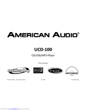 American Audio UCD-100 MKII Manuals