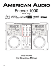 American Audio Encore 1000 Manuals