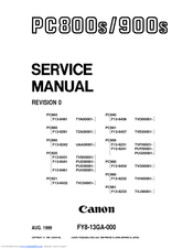 Canon PC950 Manuals