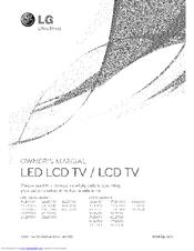 Lg 32LD450 Manuals