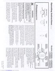 Amana LEA60AW Manuals
