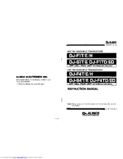 Alinco DJ-F1E Manuals