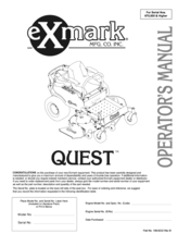 Exmark Quest QST22BE482 Manuals