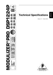 Behringer MODULIZER PRO DSP1224P Manuals