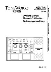 Korg Toneworks AX10A Manuals